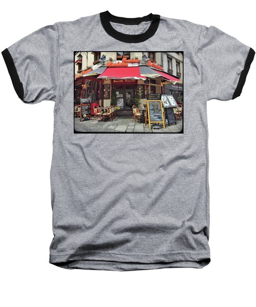 Baseball T-Shirt featuring the photograph La Fontaine De La Mouffe, Paris by Frank DiMarco