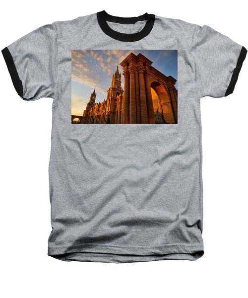 Baseball T-Shirt featuring the photograph La Hora Magia by Skip Hunt