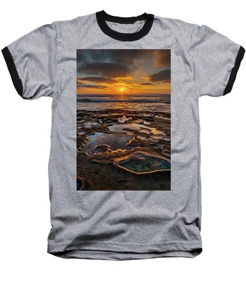 La Jolla Tidepools Baseball T-Shirt by Peter Tellone