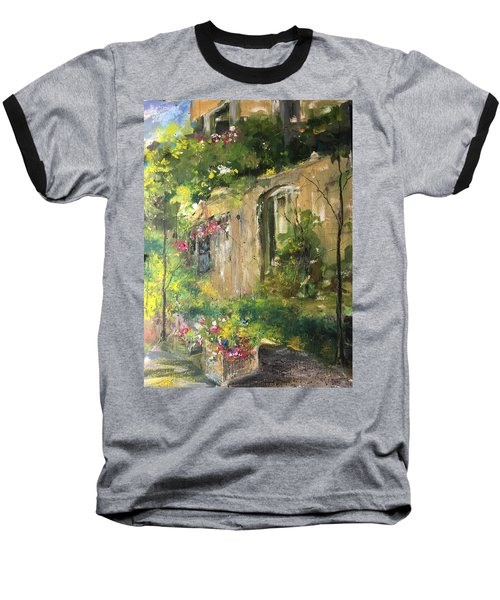 La Maison Est O Le Coeur Est Home Is Where The Heart I Baseball T-Shirt by Robin Miller-Bookhout