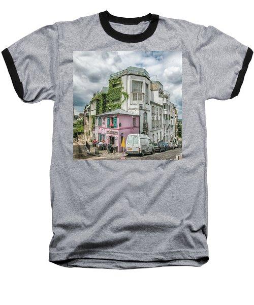 Baseball T-Shirt featuring the photograph La Maison Rose by Alan Toepfer
