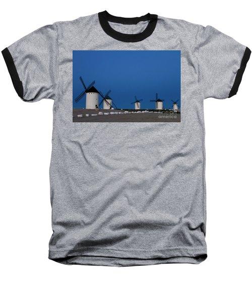 Baseball T-Shirt featuring the photograph La Mancha Windmills by Heiko Koehrer-Wagner