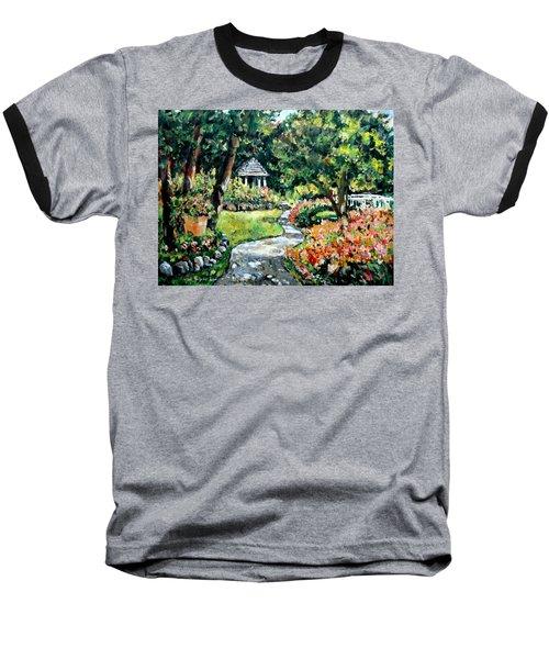La Paloma Gardens Baseball T-Shirt by Alexandra Maria Ethlyn Cheshire