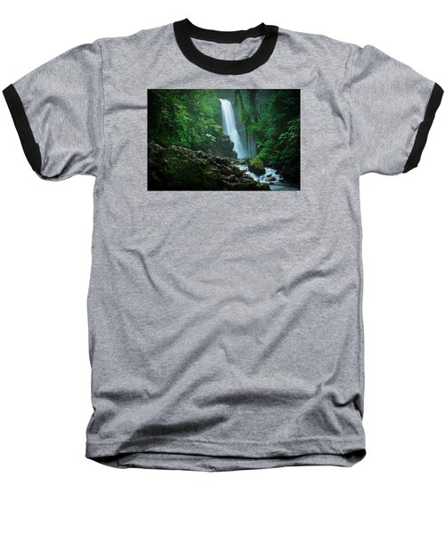 Baseball T-Shirt featuring the photograph La Paz Waterfall Costa Rica by RC Pics