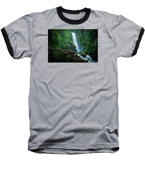 La Paz Waterfall Costa Rica Baseball T-Shirt by RC Pics