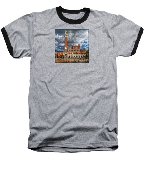 Baseball T-Shirt featuring the photograph La Piazza by Hanny Heim