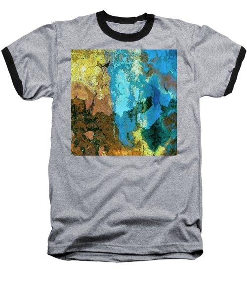 Baseball T-Shirt featuring the painting La Playa by Dominic Piperata