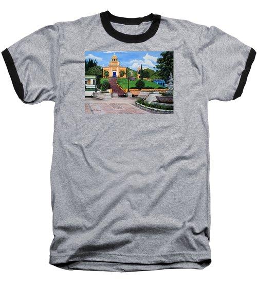 La Plaza De Moca Baseball T-Shirt by Luis F Rodriguez