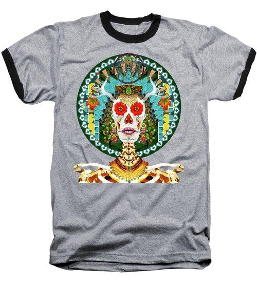 La Reina De Los Muertos Baseball T-Shirt