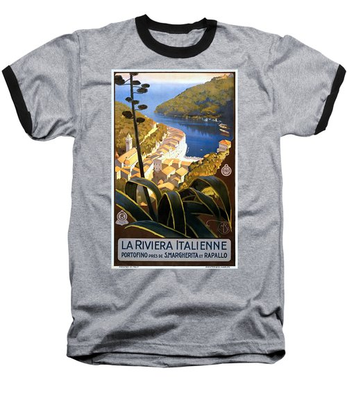 La Riviera Italienne, Travel Poster For Enit, Ca. 1920 Baseball T-Shirt