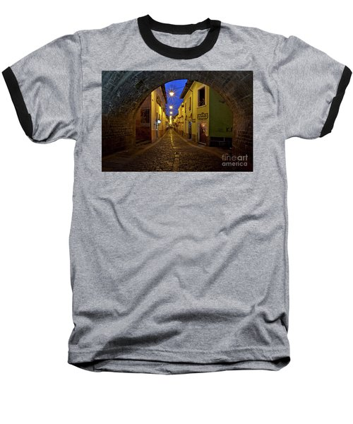 La Ronda Calle In Old Town Quito, Ecuador Baseball T-Shirt by Sam Antonio Photography