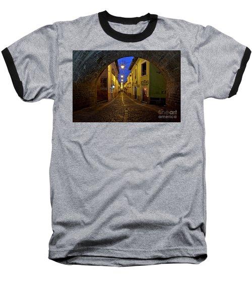 La Ronda Calle In Old Town Quito, Ecuador Baseball T-Shirt