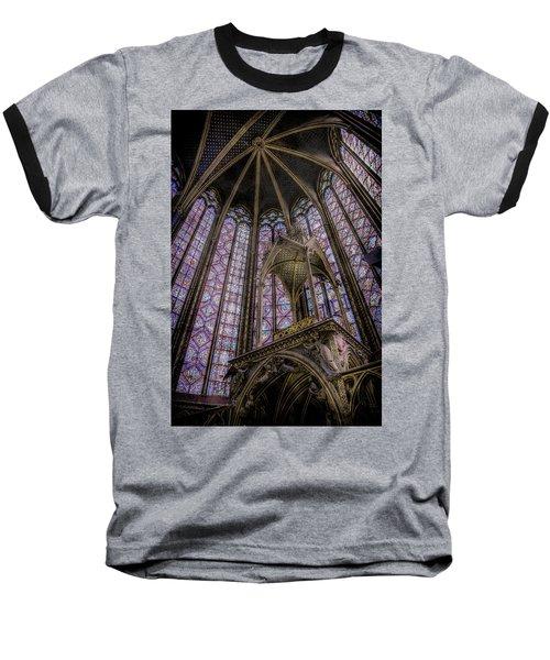 Paris, France - La-sainte-chapelle - Apse And Canopy Baseball T-Shirt