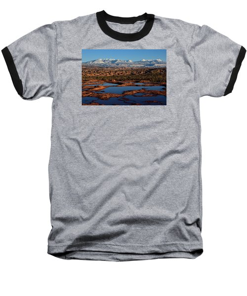 La Sal Mountains And Ephemeral Pools Baseball T-Shirt