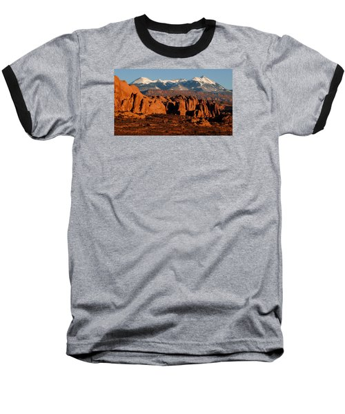 La Sal Mountains Baseball T-Shirt