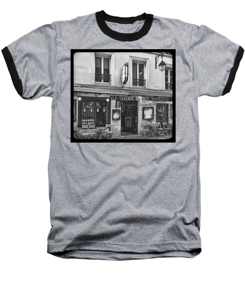 Baseball T-Shirt featuring the photograph La Taverne De Montmartre, Paris by Frank DiMarco