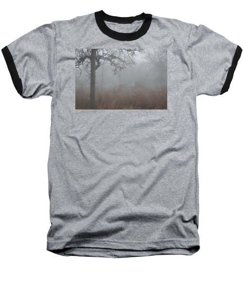 Baseball T-Shirt featuring the photograph La Vernia Fog IIi by Carolina Liechtenstein