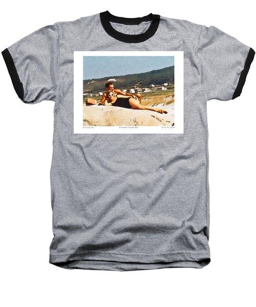 La Vida Dulce,the Sweet Life Baseball T-Shirt by Kenneth De Tore