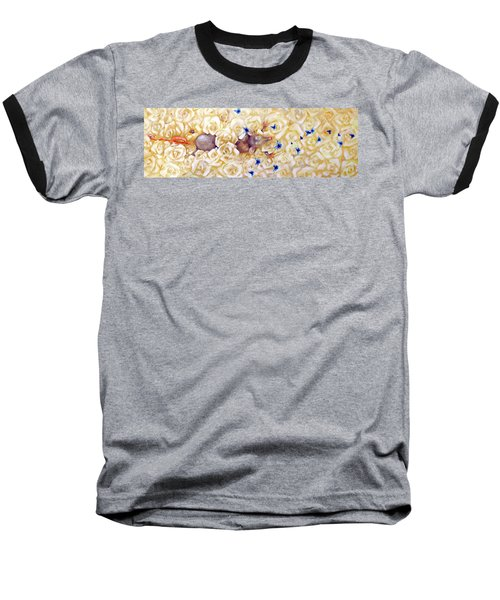 Baseball T-Shirt featuring the painting La Vie En Rose by Dina Dargo