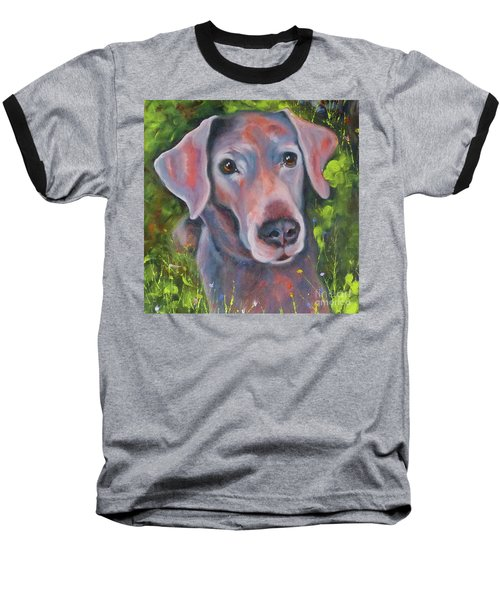 Lab In The Grass Baseball T-Shirt