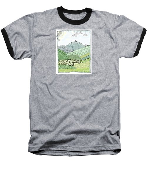 Labrador Mountain Doggie Doodle Baseball T-Shirt
