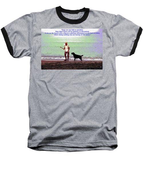 Labrador Retriever Baseball T-Shirt by Charles Shoup