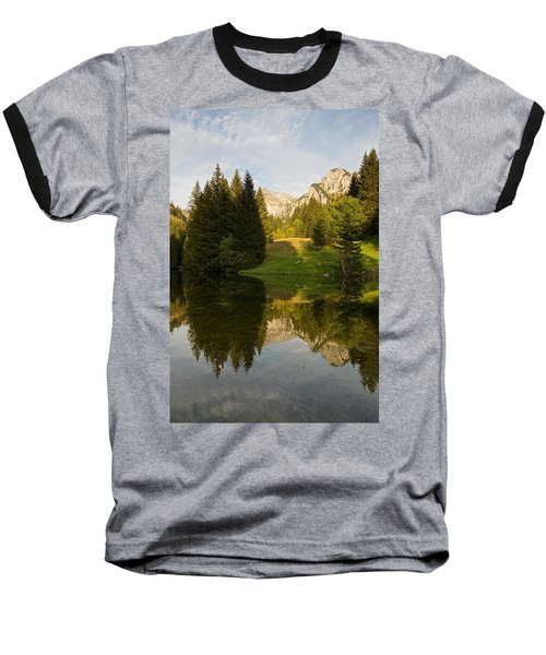 Lac De Fontaine Reflections Baseball T-Shirt