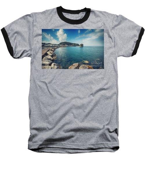 Lacco Ameno Harbour ,  Ischia Island Baseball T-Shirt
