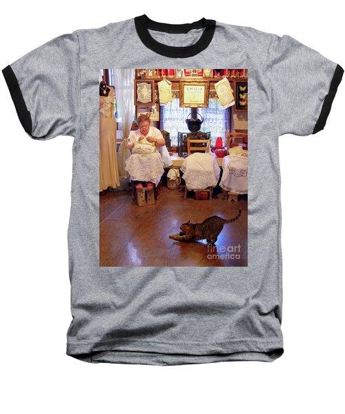 Lace Lady Of Burano Baseball T-Shirt by Jennie Breeze