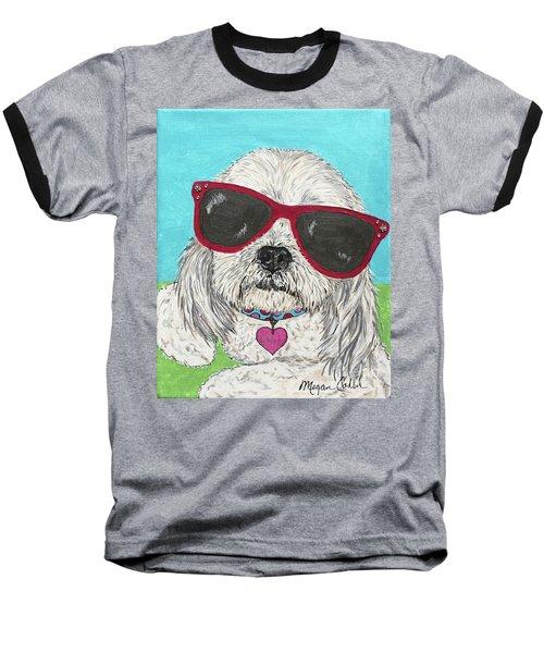Laci With Shades Baseball T-Shirt