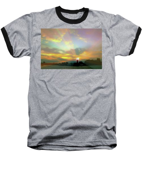Baseball T-Shirt featuring the photograph Lackawanna Transit Sunset by Diana Angstadt