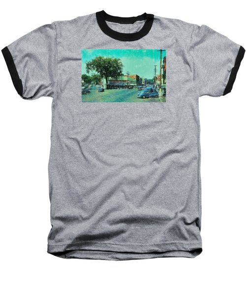 Laconia N H Colored Pencil Baseball T-Shirt by Mim White