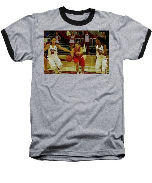 Baseball T-Shirt featuring the photograph Ladies Basketball by Debby Pueschel