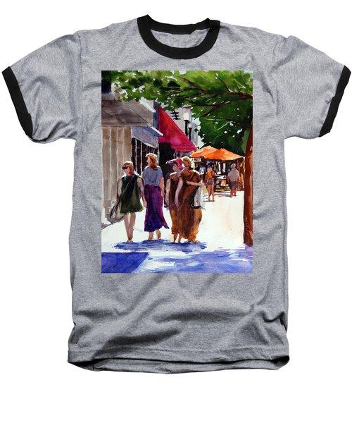 Ladies That Shop Baseball T-Shirt by Ron Stephens