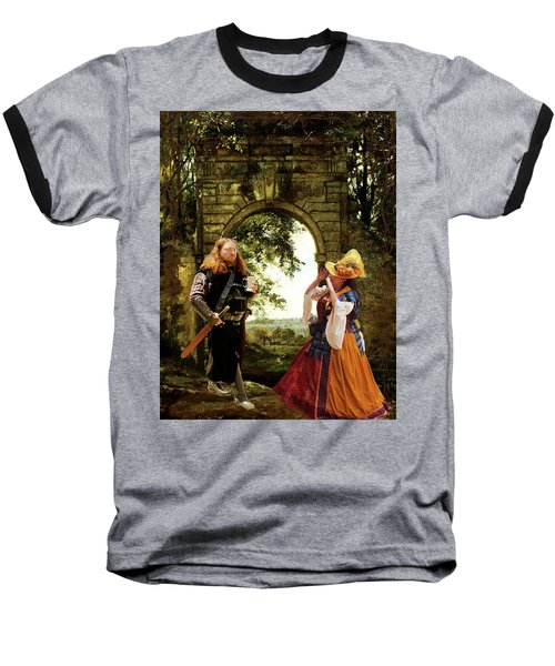Lady At The Gate Baseball T-Shirt