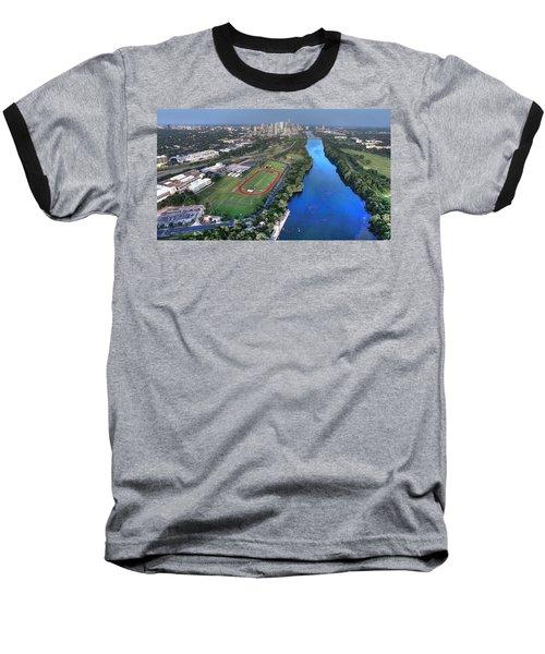 Lady Bird Lake Baseball T-Shirt by Andrew Nourse