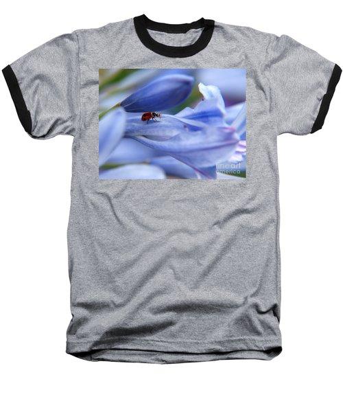 Lady Bug Baseball T-Shirt by Trena Mara