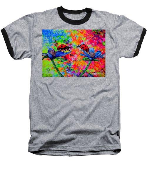 Lady Bugs Baseball T-Shirt by Viktor Lazarev