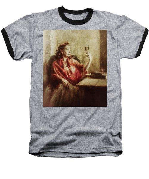 Lady By The Window Baseball T-Shirt