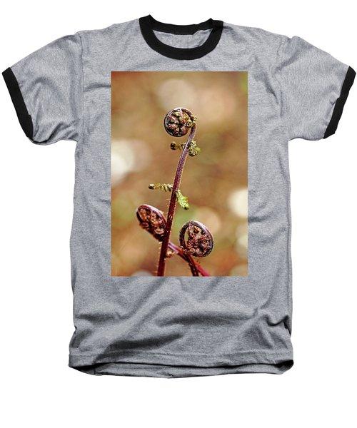 Lady Fern Spirals Baseball T-Shirt