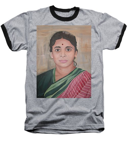 Lady From India Baseball T-Shirt