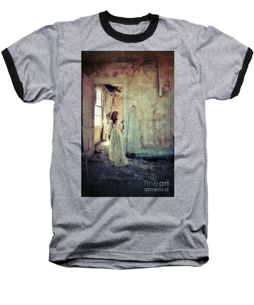Lady In An Old Abandoned House Baseball T-Shirt by Jill Battaglia