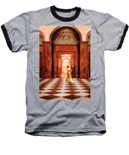 Lady In Golden Gown Walking Through Doorway Baseball T-Shirt