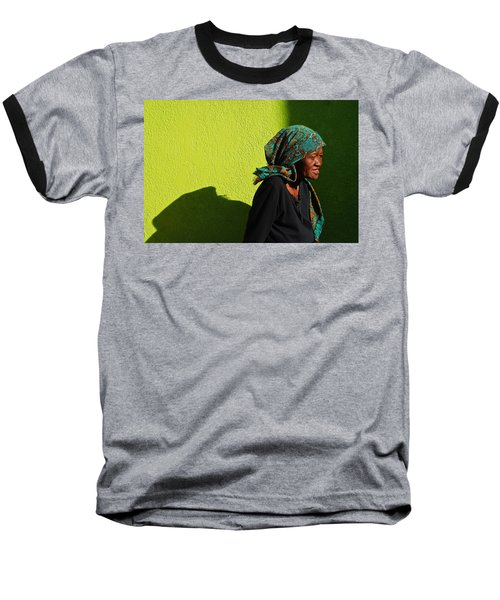 Lady In Green Baseball T-Shirt