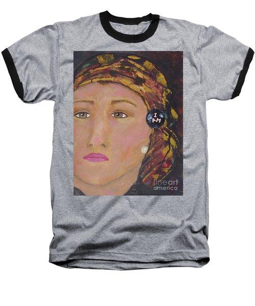 Lady In Head Scarf  Baseball T-Shirt