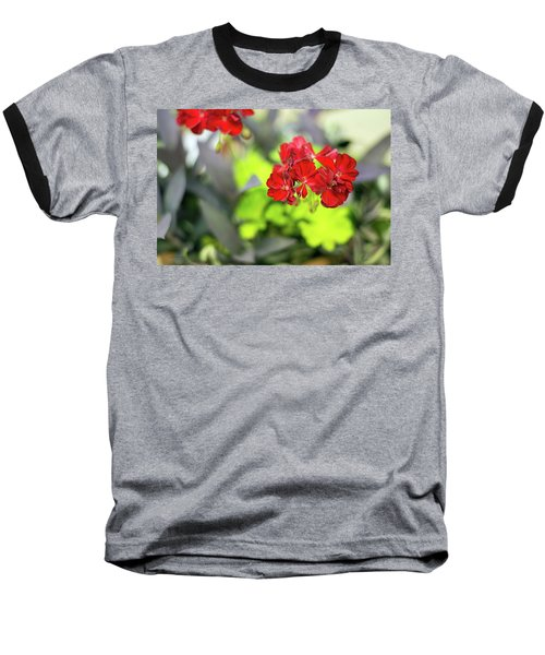 Lady In Red Baseball T-Shirt