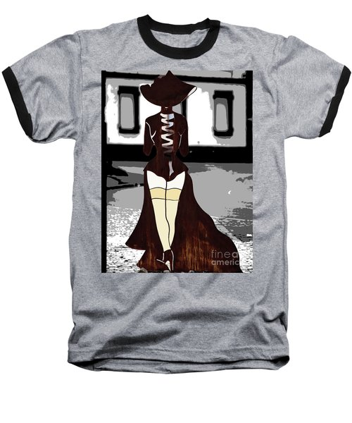 Lady In Stockings Baseball T-Shirt