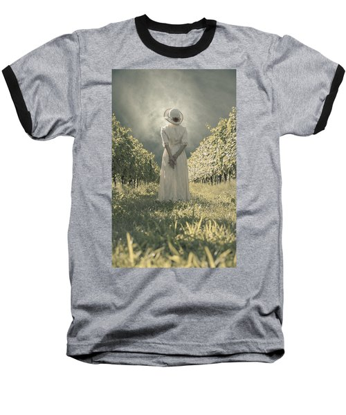 Lady In Vineyard Baseball T-Shirt