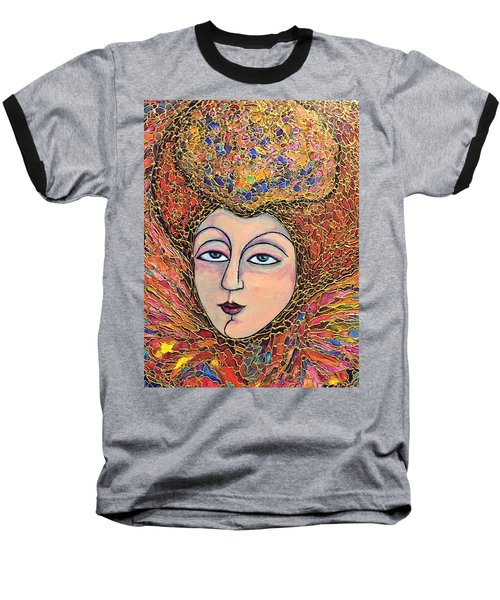 Baseball T-Shirt featuring the painting Lady-in-waiting by Rae Chichilnitsky