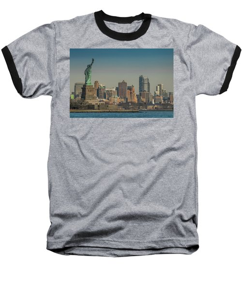 Lady Liberty Baseball T-Shirt